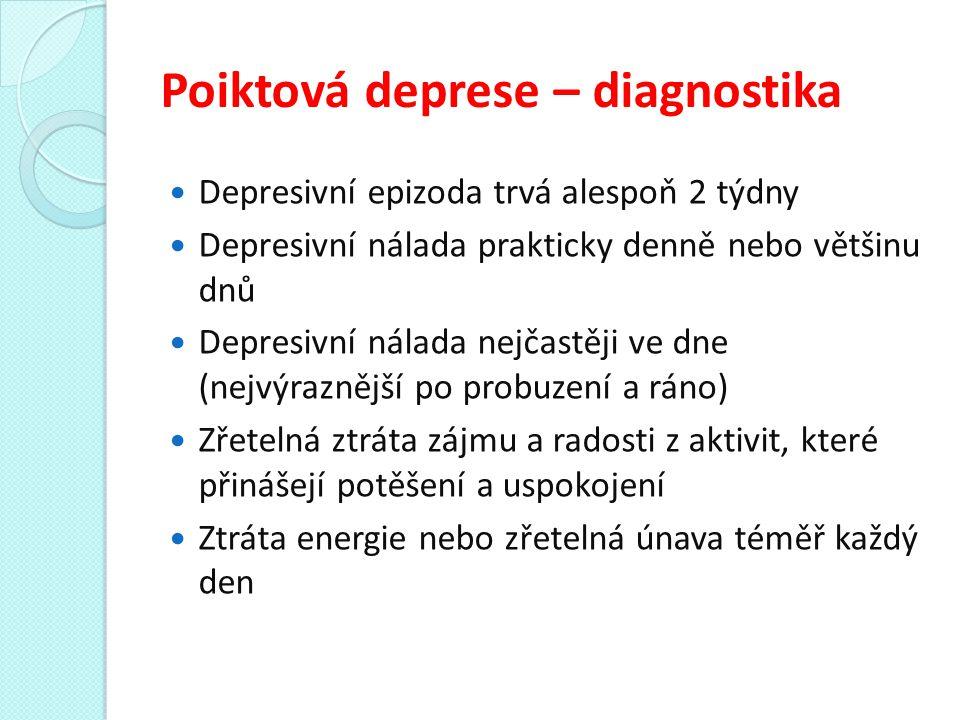 Poiktová deprese – diagnostika