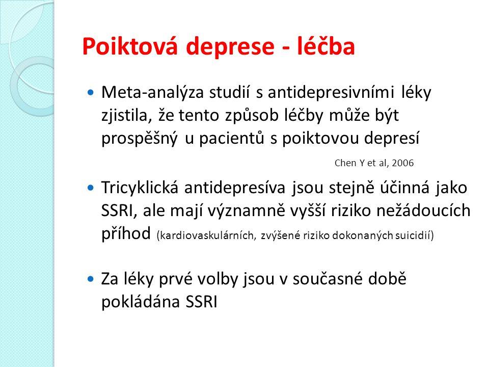 Poiktová deprese - léčba
