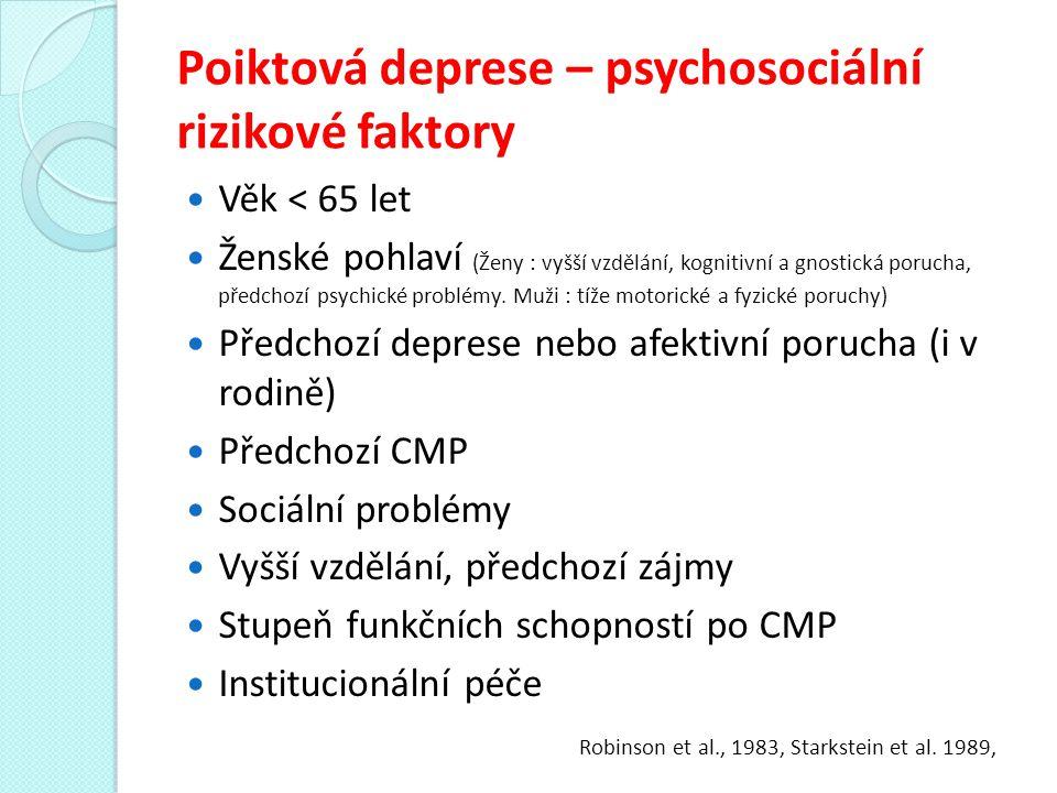 Poiktová deprese – psychosociální rizikové faktory