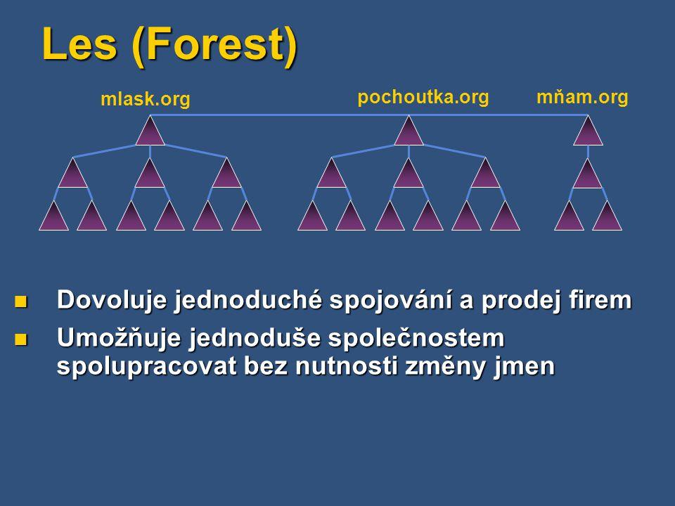 Les (Forest) Dovoluje jednoduché spojování a prodej firem