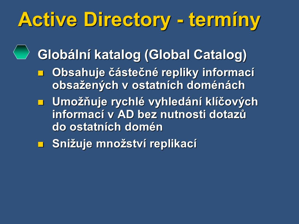 Active Directory - termíny