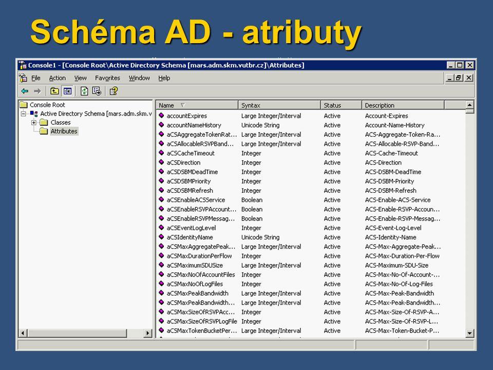 Schéma AD - atributy
