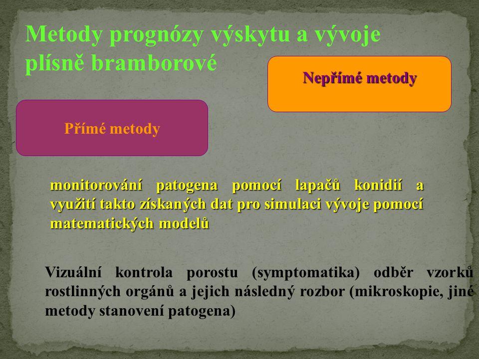 Metody prognózy výskytu a vývoje plísně bramborové