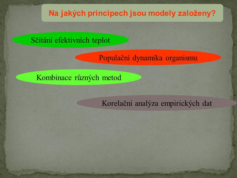 Na jakých principech jsou modely založeny