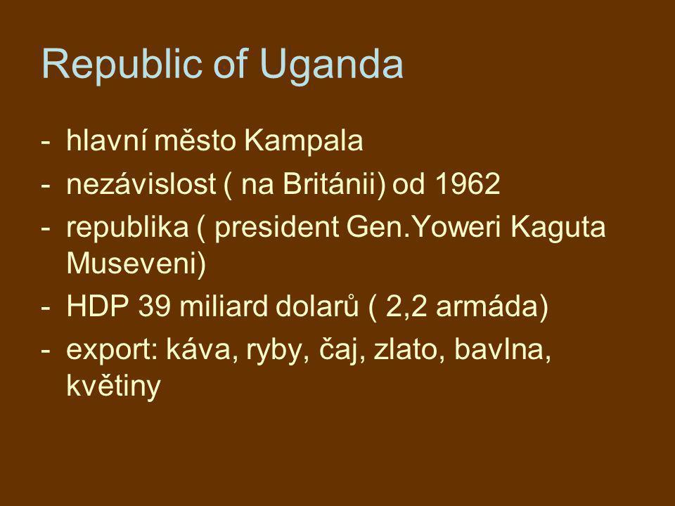 Republic of Uganda hlavní město Kampala