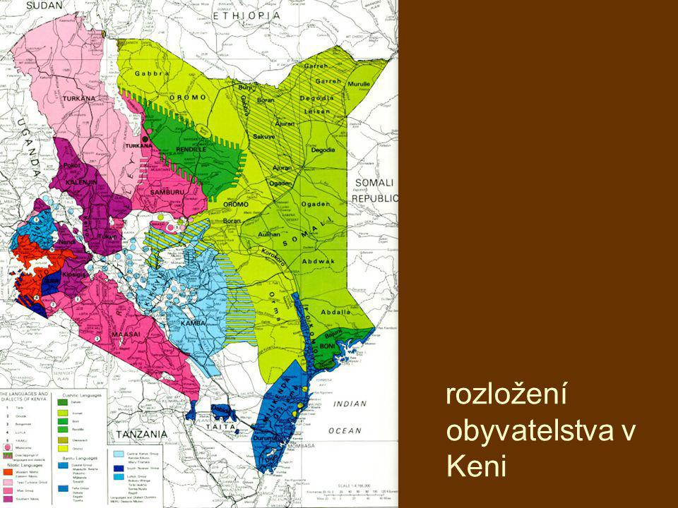 rozložení obyvatelstva v Keni