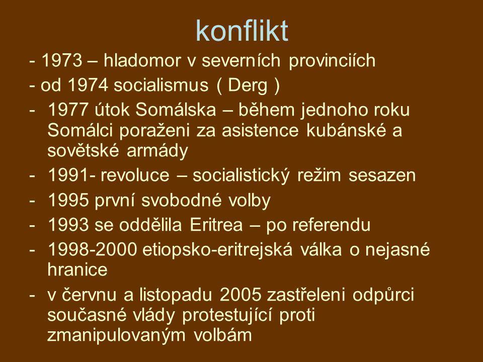 konflikt - 1973 – hladomor v severních provinciích