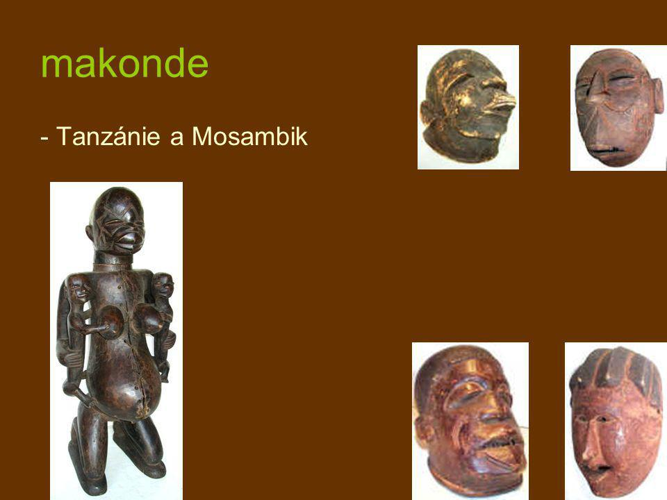 makonde - Tanzánie a Mosambik