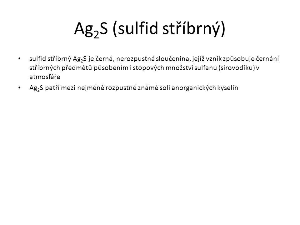 Ag2S (sulfid stříbrný)