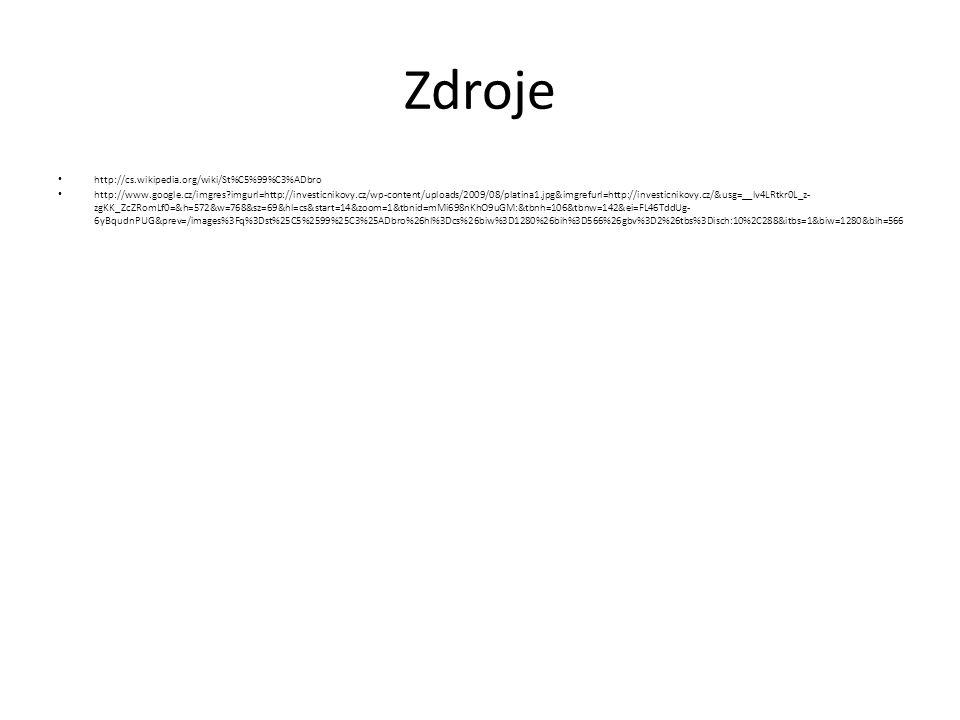Zdroje http://cs.wikipedia.org/wiki/St%C5%99%C3%ADbro