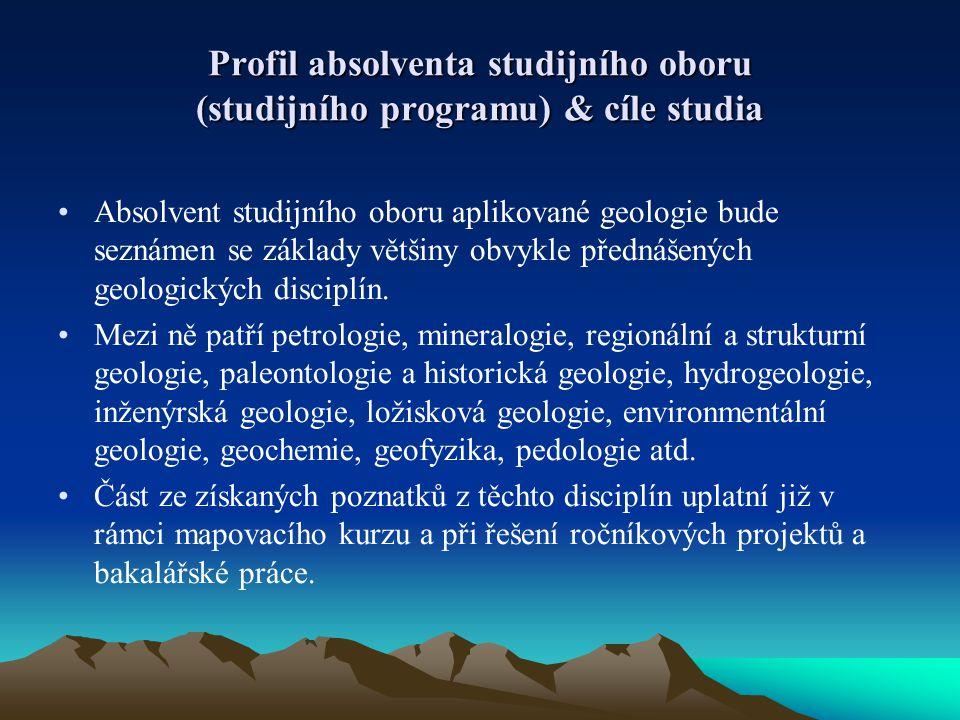 Profil absolventa studijního oboru (studijního programu) & cíle studia