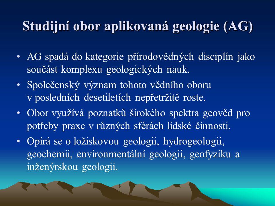 Studijní obor aplikovaná geologie (AG)