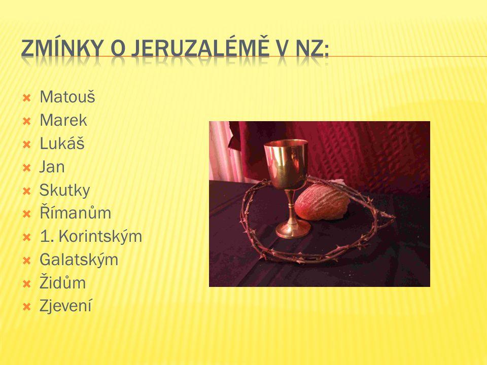 Zmínky o Jeruzalémě v NZ: