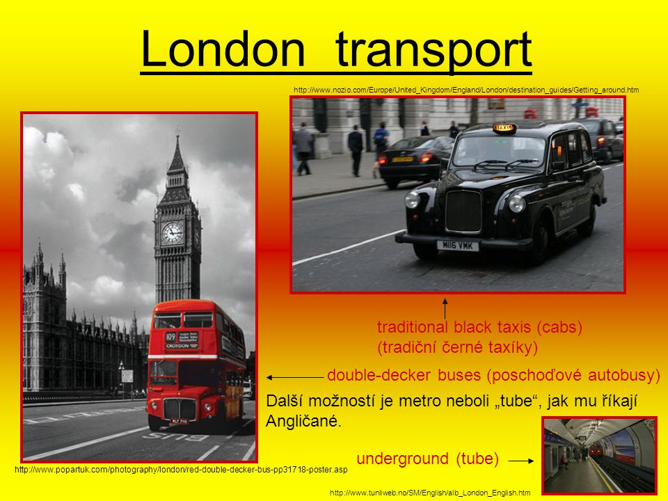 London transport traditional black taxis (cabs)