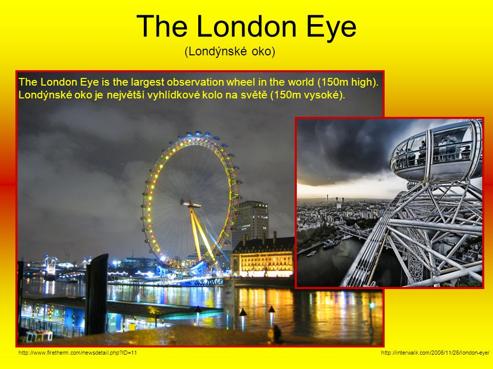 The London Eye (Londýnské oko)