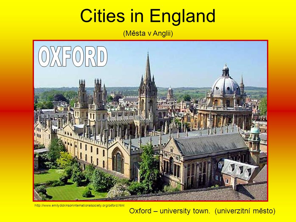 Cities in England OXFORD (Města v Anglii)