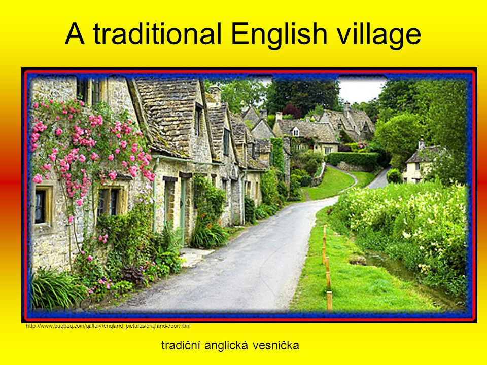 A traditional English village