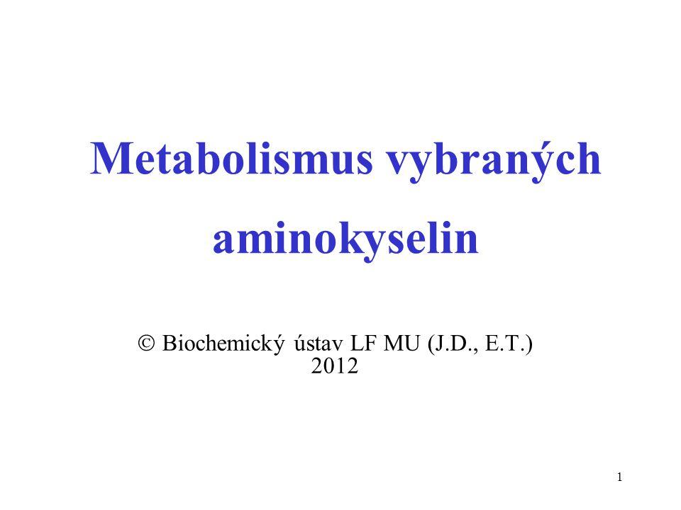 Metabolismus vybraných aminokyselin