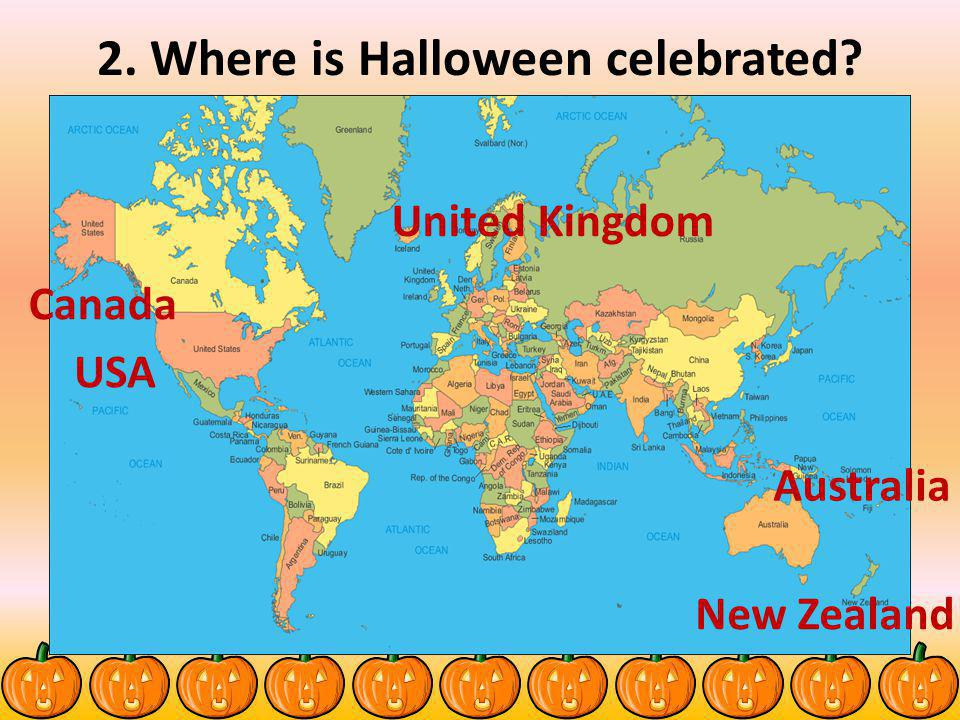 2. Where is Halloween celebrated