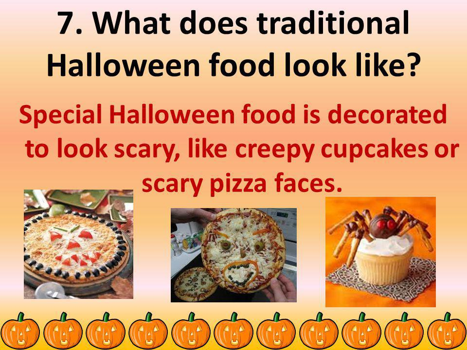 7. What does traditional Halloween food look like