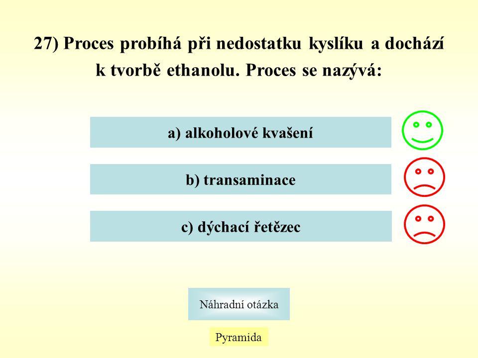 27) Proces probíhá při nedostatku kyslíku a dochází