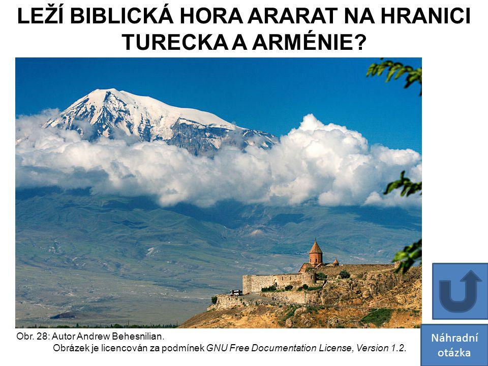 LEŽÍ BIBLICKÁ HORA ARARAT NA HRANICI
