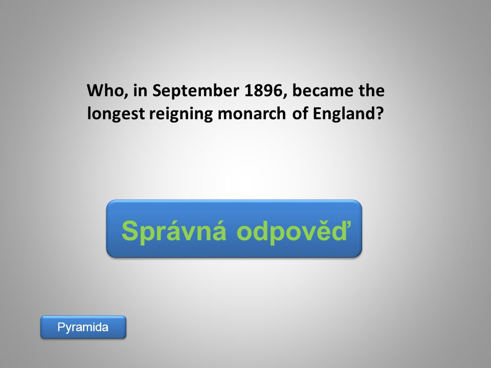 Who, in September 1896, became the longest reigning monarch of England