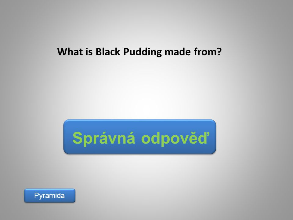 What is Black Pudding made from