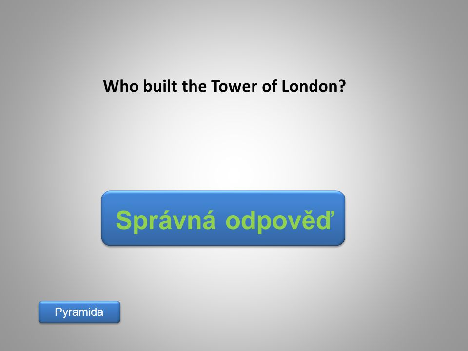 Who built the Tower of London