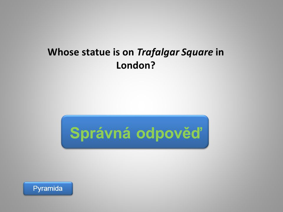 Whose statue is on Trafalgar Square in London