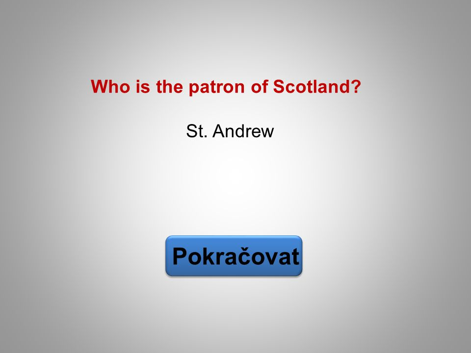 Who is the patron of Scotland