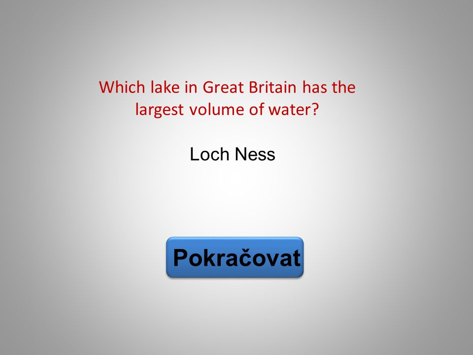 Which lake in Great Britain has the largest volume of water