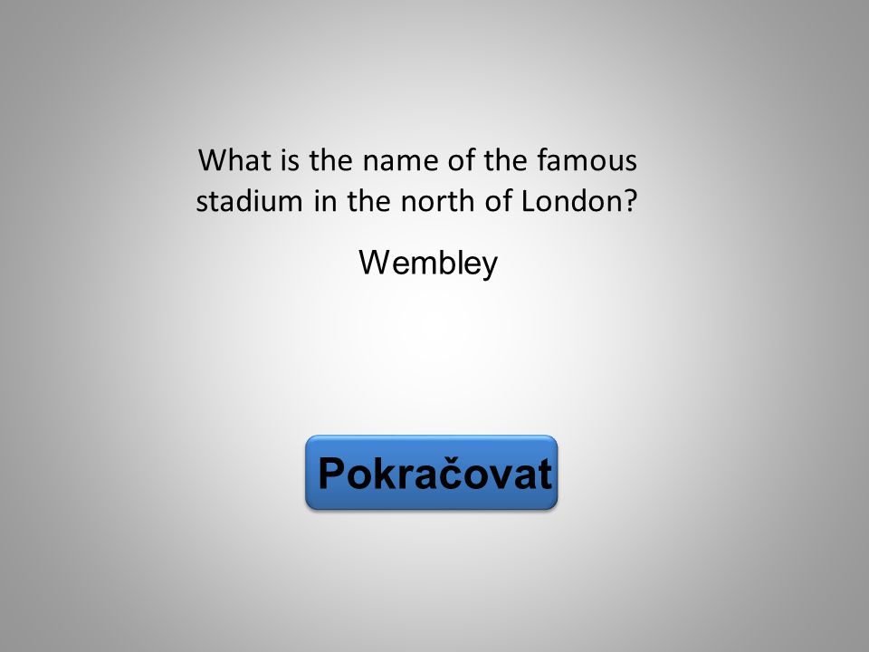 What is the name of the famous stadium in the north of London