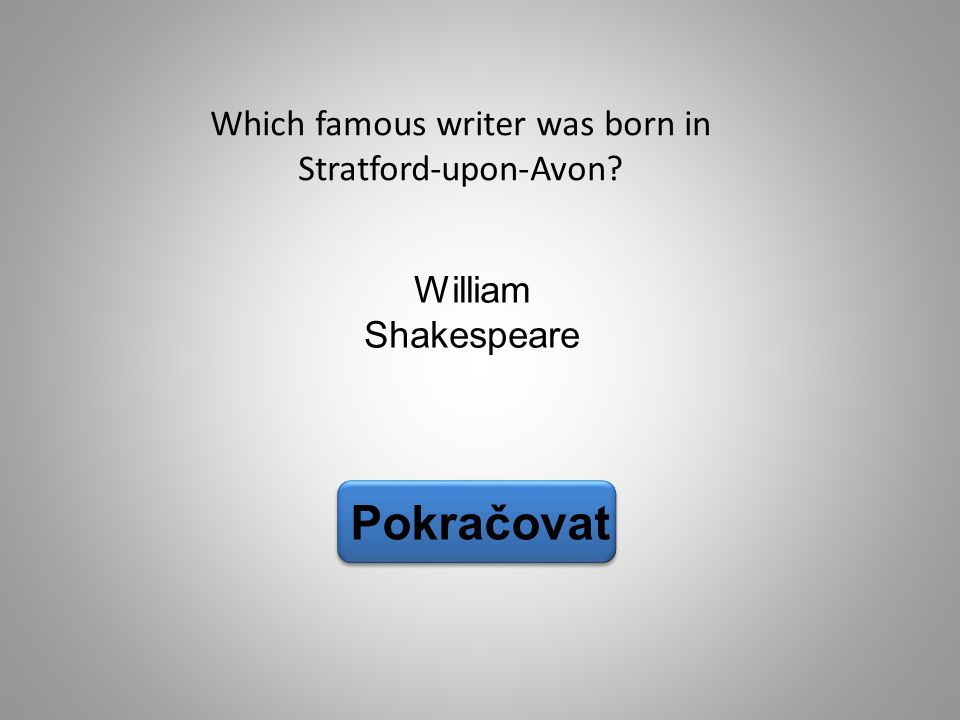 Which famous writer was born in Stratford-upon-Avon
