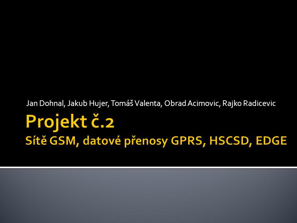 Projekt č.2 Sítě GSM, datové přenosy GPRS, HSCSD, EDGE