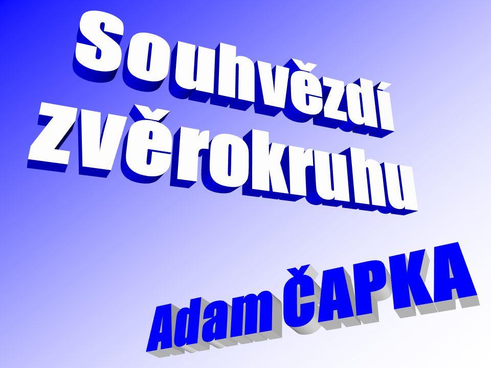 Souhvězdí zvěrokruhu Adam ČAPKA