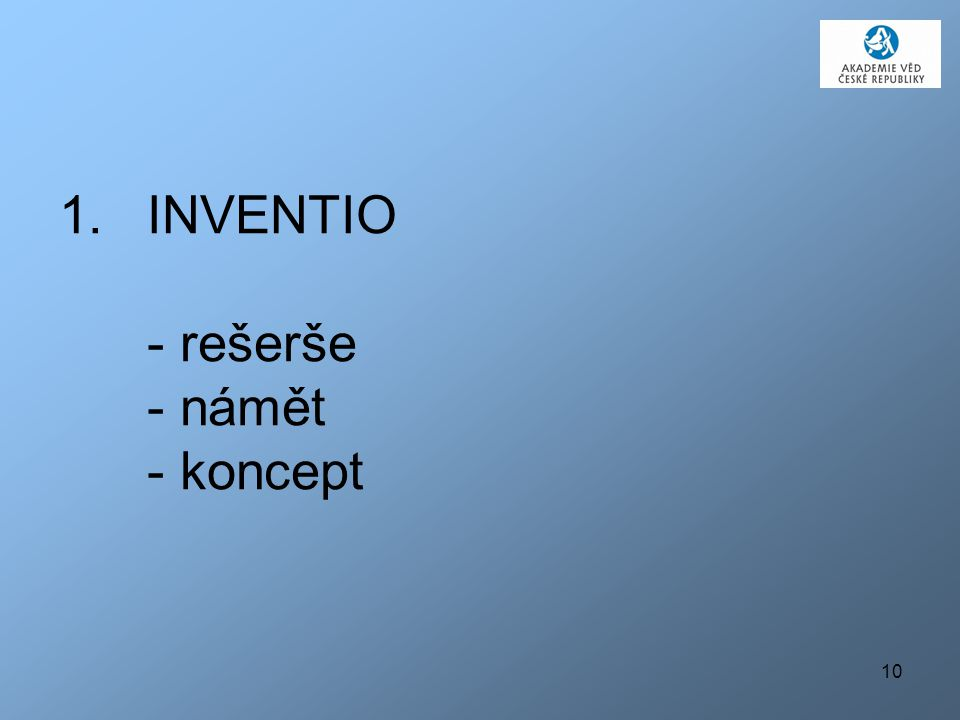 INVENTIO - rešerše - námět - koncept