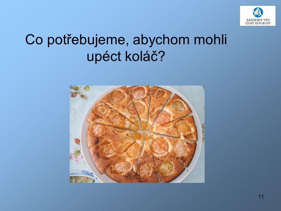 Co potřebujeme, abychom mohli upéct koláč