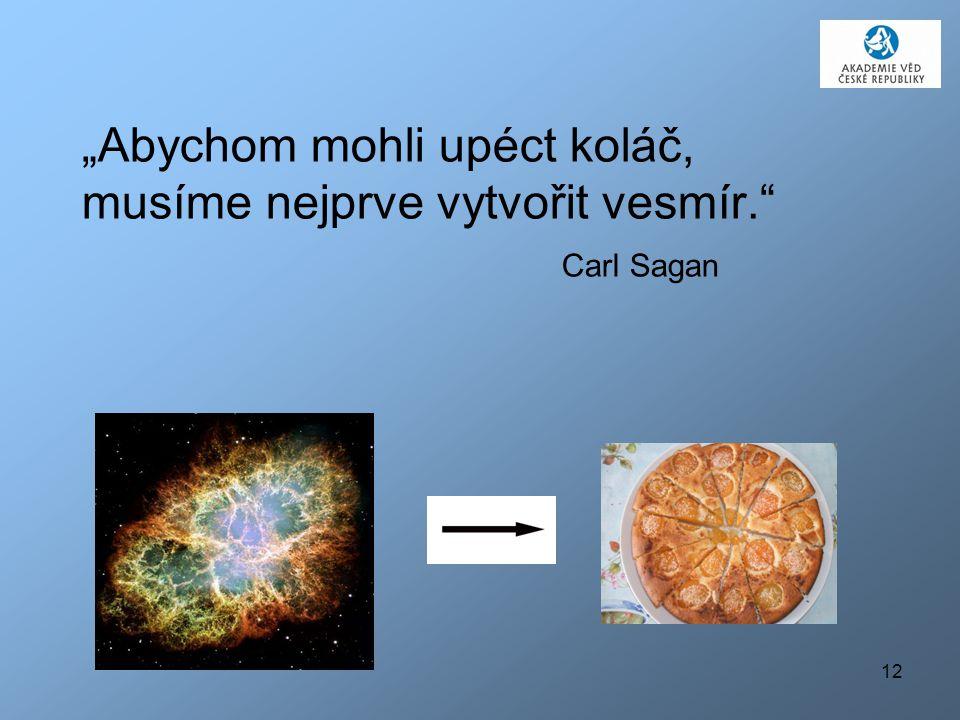 """""""Abychom mohli upéct koláč, musíme nejprve vytvořit vesmír."""