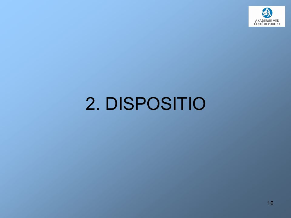 2. DISPOSITIO