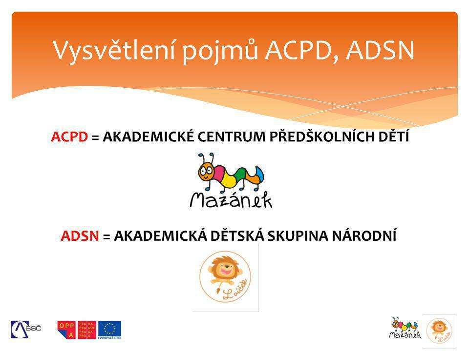 Vysvětlení pojmů ACPD, ADSN