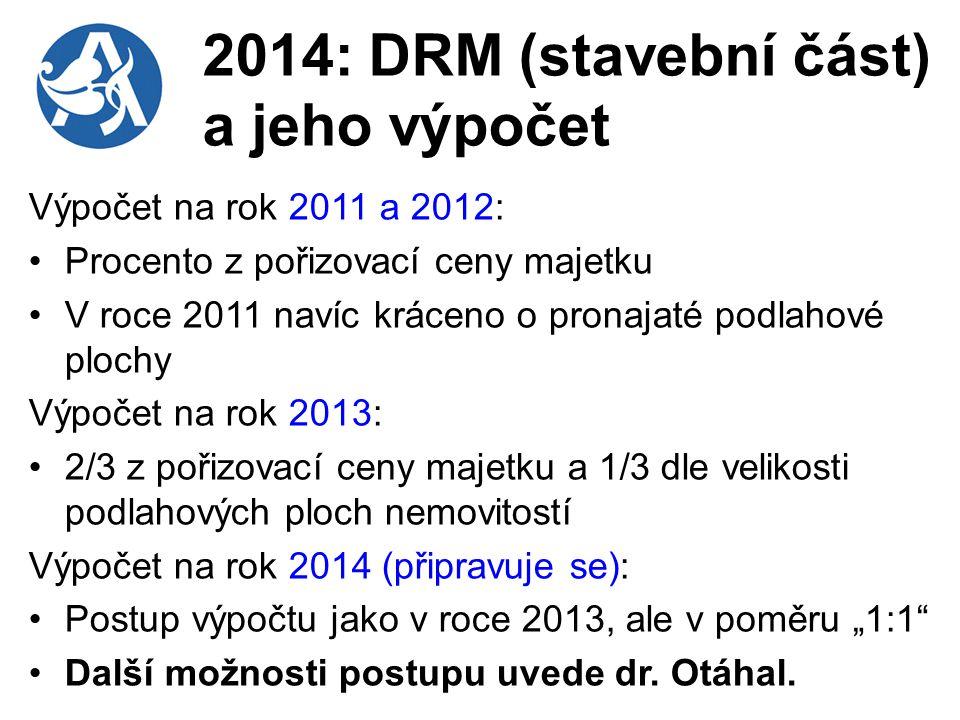 2014: DRM (stavební část) a jeho výpočet