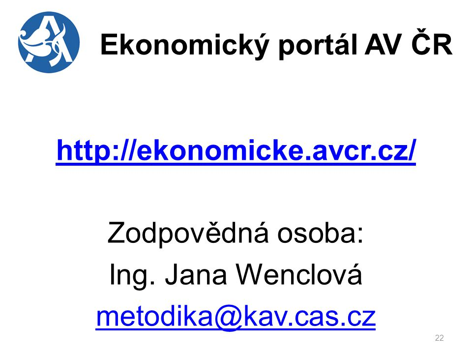Ekonomický portál AV ČR