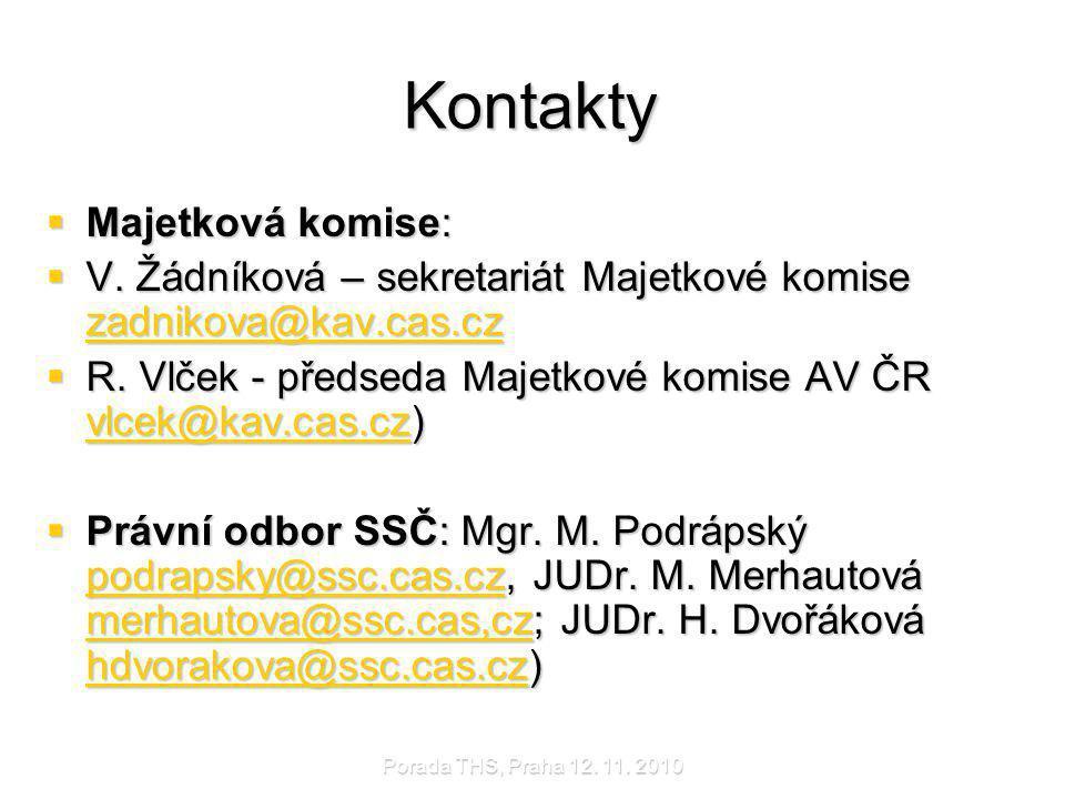 Kontakty Majetková komise: