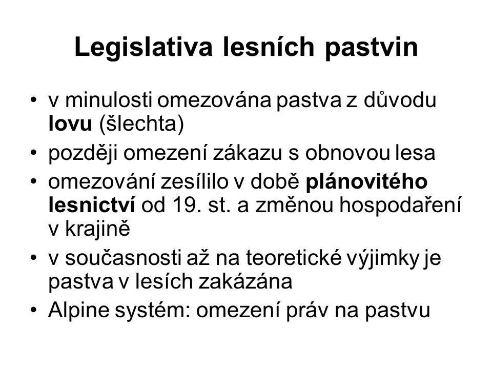 Legislativa lesních pastvin