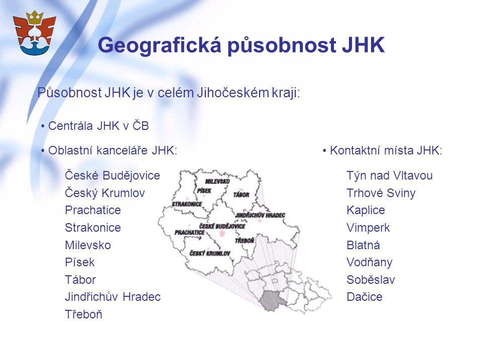 Geografická působnost JHK