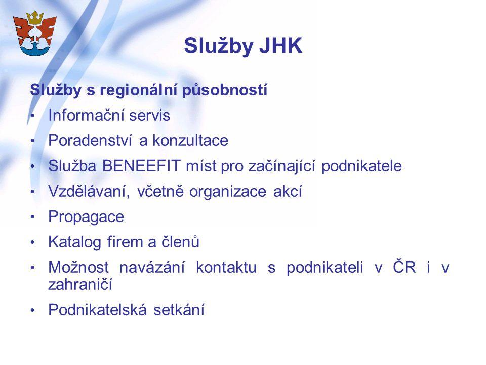 Služby JHK Služby s regionální působností Informační servis