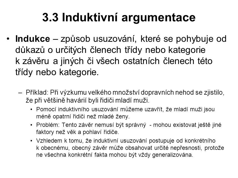 3.3 Induktivní argumentace