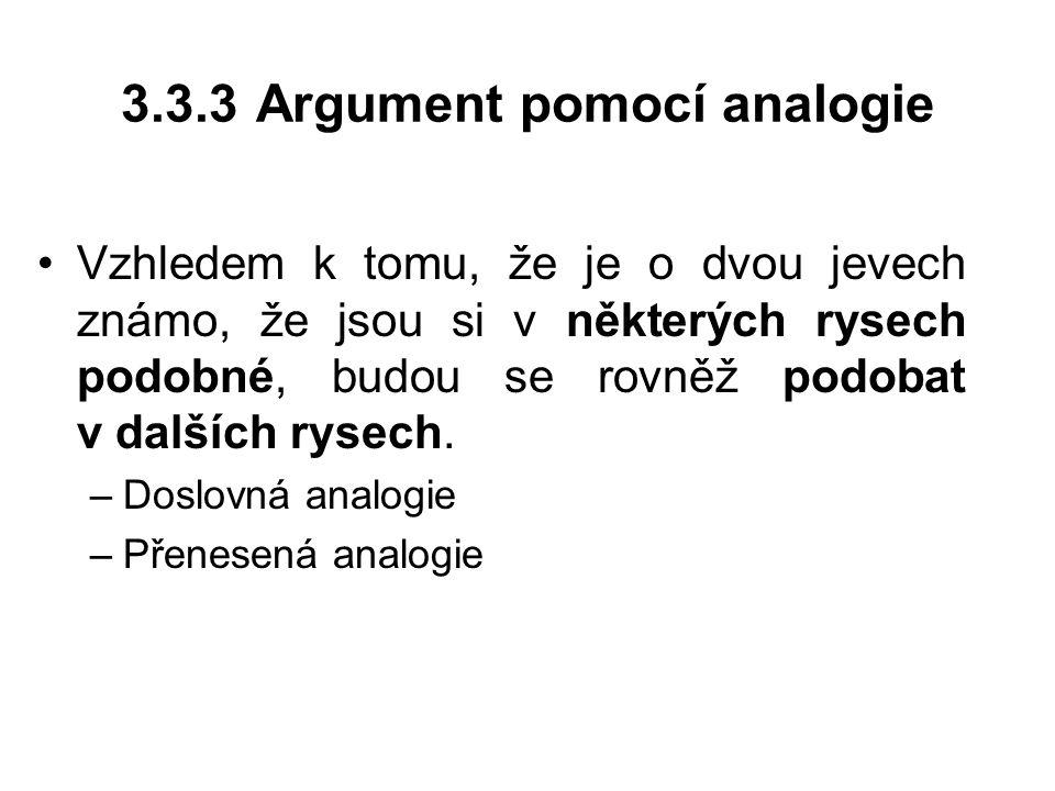 3.3.3 Argument pomocí analogie