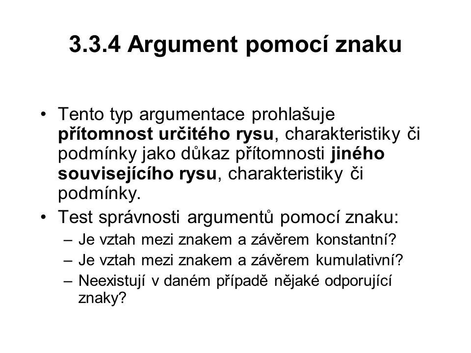 3.3.4 Argument pomocí znaku